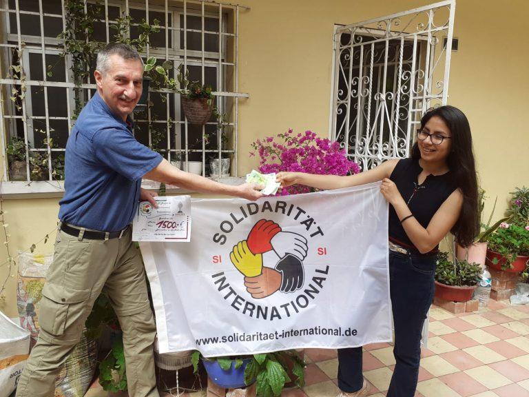 Persönliche Spendenübergabe in Lima /Peru