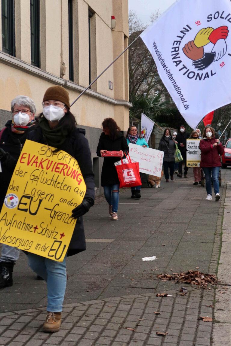 Solidarität mit Alassa M. und praktische Solidarität vor Ort