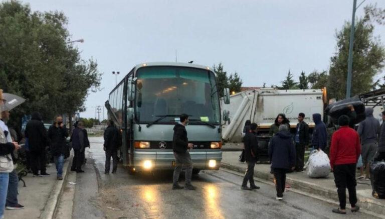 Die Evakuierung des Modelllagers in Kara Tepe hat begonnen