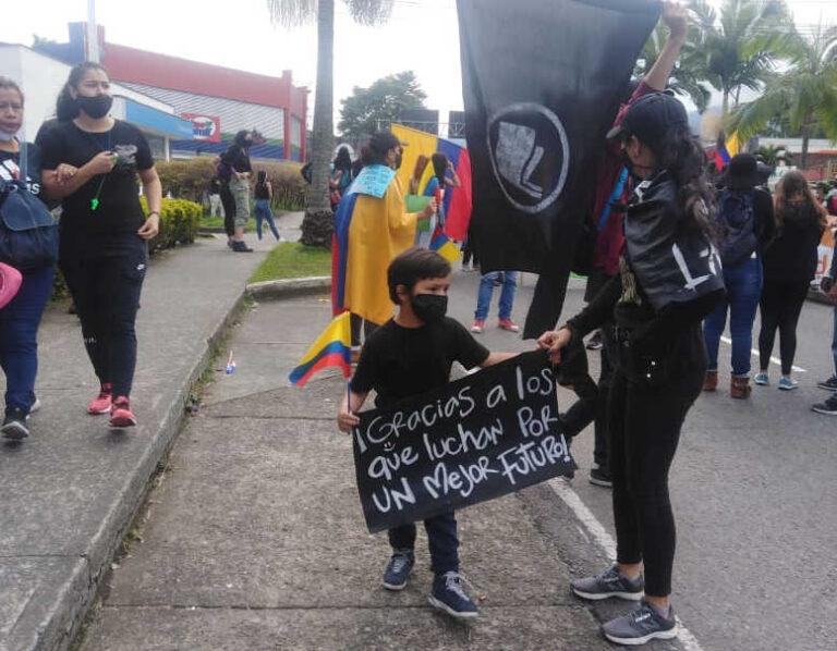 SI ist solidarisch mit dem gerechten Protest des kolumbianischen Volkes