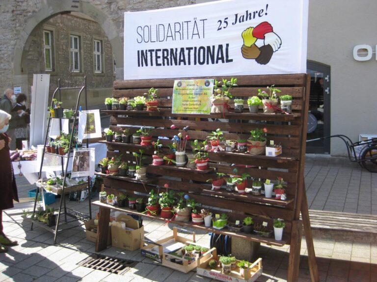 Pflanzenspenden-Börse in Schwäbisch Hall zu 25 Jahre SI