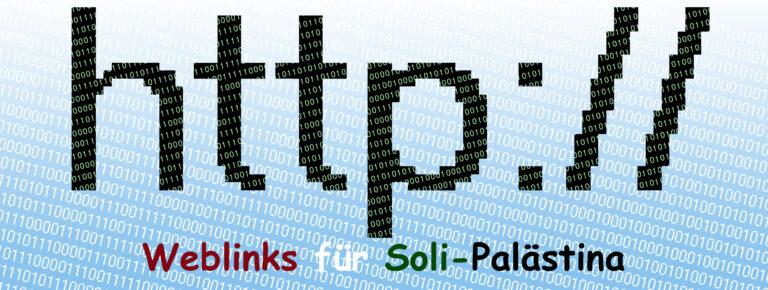 Unsere Weblinks zur Thema Palästina